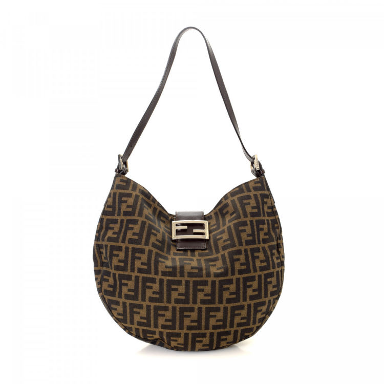 4a7b265e067b LXRandCo guarantees this is an authentic vintage Fendi shoulder bag. This  beautiful shoulder bag was crafted in zucca canvas in brown.