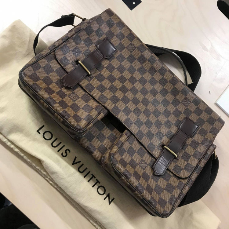 e69058156026 Louis Vuitton Broadway Damier Ebene Coated Canvas - LXRandCo - Pre ...