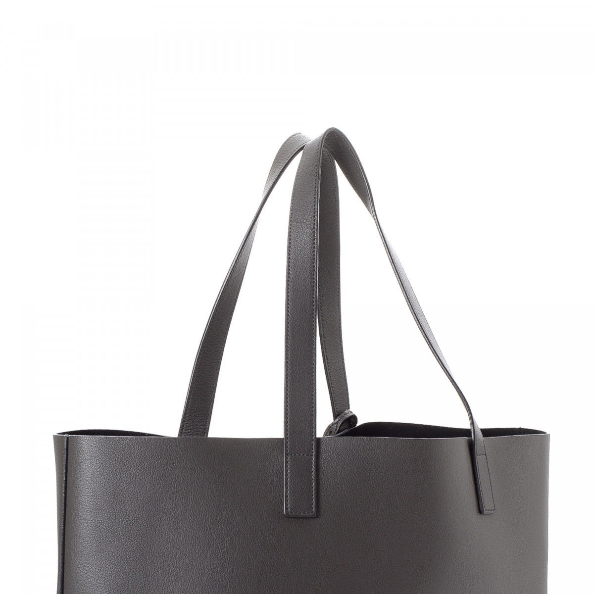 6b913d388924 Yves Saint Laurent Sac Shopping Tote Leather - LXRandCo - Pre-Owned ...