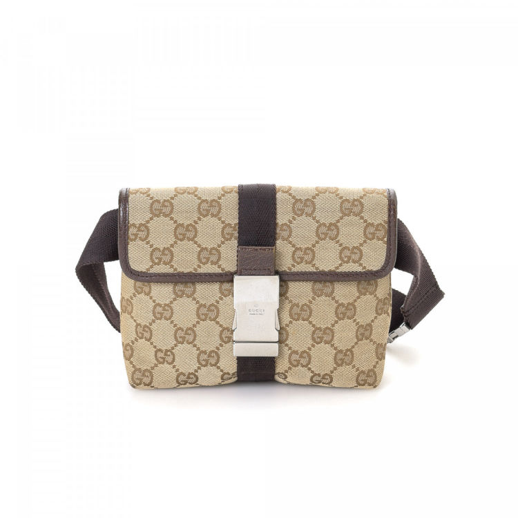 fb97629297288 Gucci GG Canvas Waist Pouch GG Canvas - LXRandCo - Pre-Owned Luxury ...