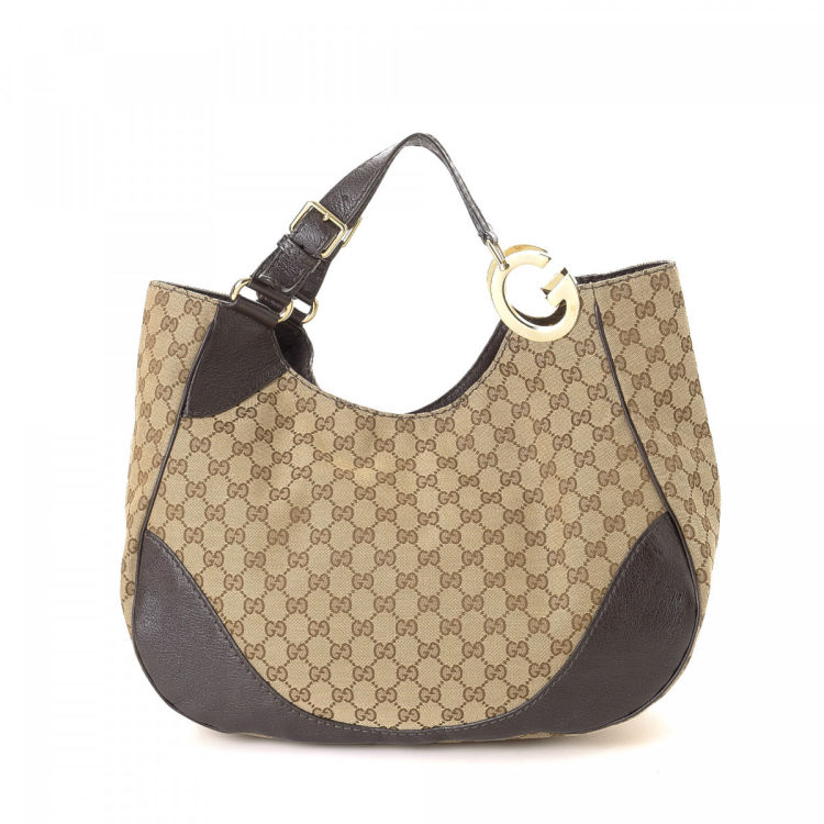 adb0ae452c1 Gucci GG Canvas Shoulder Bag GG Canvas - LXRandCo - Pre-Owned Luxury ...