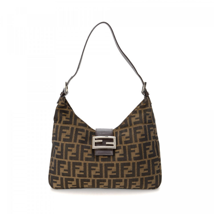 20f5b0c3c6c4 Fendi Zucca Shoulder Bag Zucca Canvas - LXRandCo - Pre-Owned Luxury ...