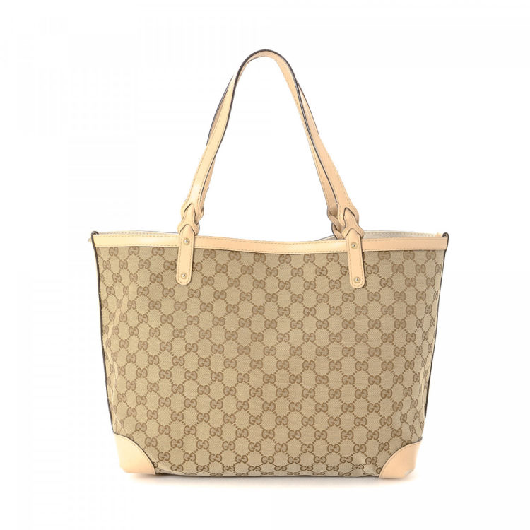 019b02b5c Gucci GG Canvas Craft Tote GG Canvas - LXRandCo - Pre-Owned Luxury Vintage