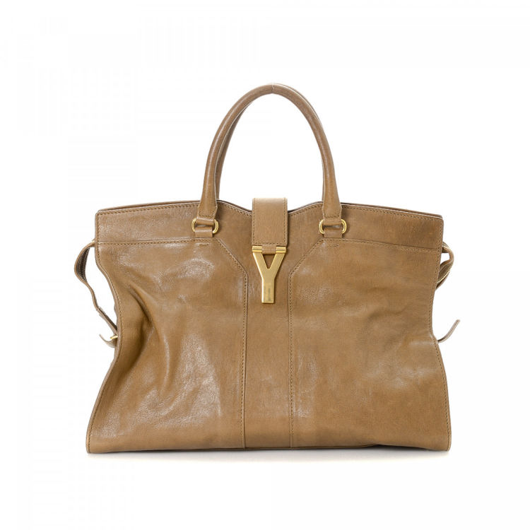 Yves Saint Laurent Chyc Cabas Large Leather - LXRandCo - Pre-Owned ... d72f6ecd5e53b