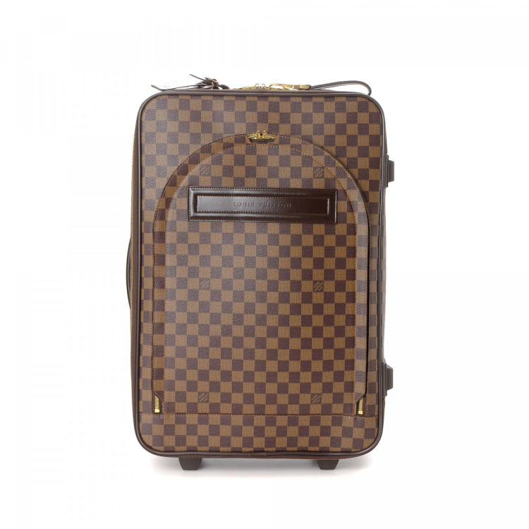 9af213e2763e LXRandCo guarantees this is an authentic vintage Louis Vuitton Pegase 55 travel  bag. Crafted in damier ebene coated canvas