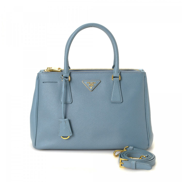 1ac7b6bf98a0 Prada Galleria Double Zip Tote Small Saffiano Lux Leather - LXRandCo ...