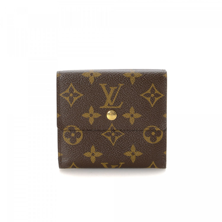6e048f5622d8 LXRandCo guarantees the authenticity of this vintage Louis Vuitton Elise  wallet. Crafted in monogram coated canvas