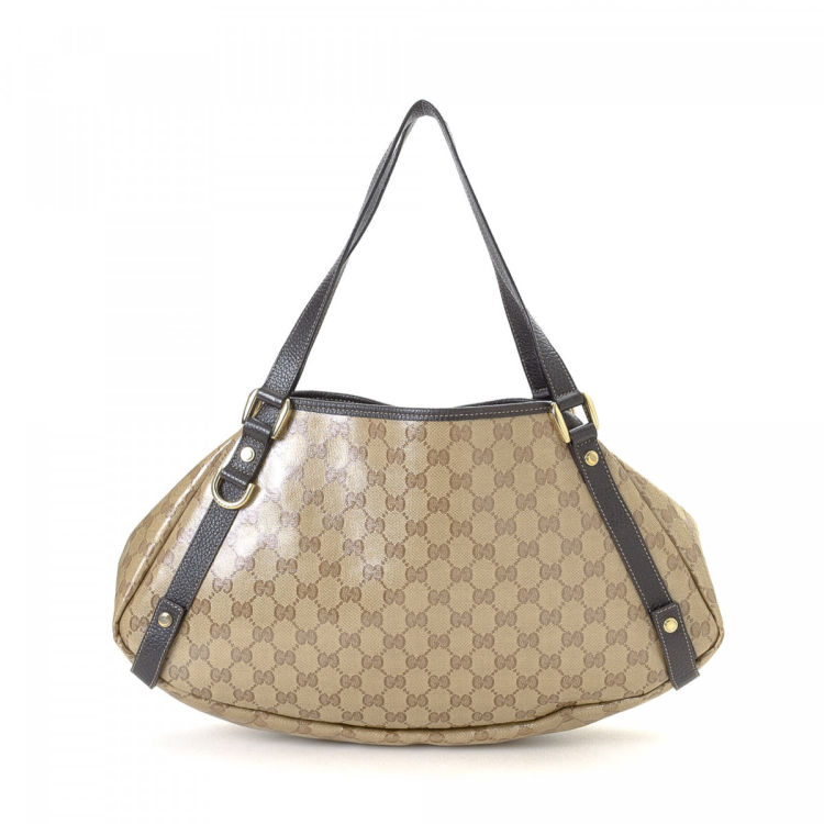 a264f56856b8 Gucci GG Crystal Abbey Tote GG Crystal Coated Canvas - LXRandCo ...