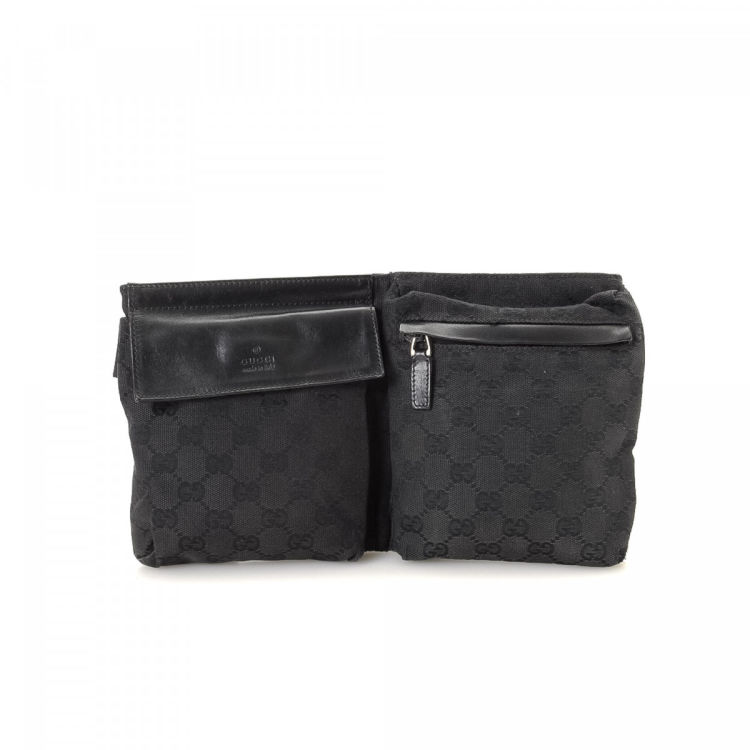 5b5665b2829129 Gucci GG Canvas Waist Pouch GG Canvas - LXRandCo - Pre-Owned Luxury ...