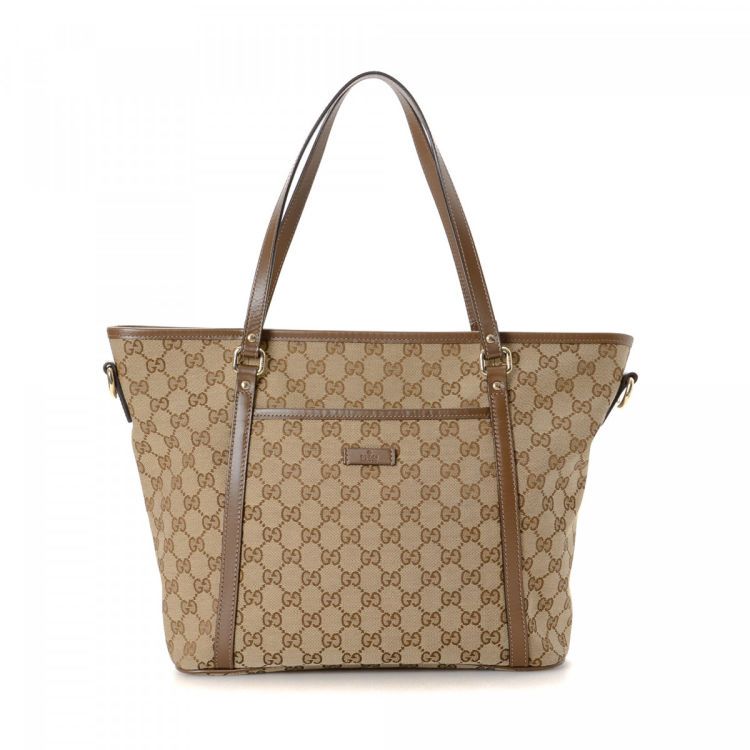 d9290408c Gucci GG Canvas Tote GG Canvas - LXRandCo - Pre-Owned Luxury Vintage
