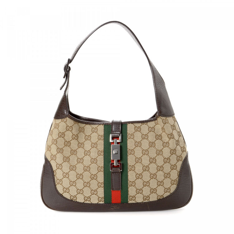 066c8bff7e4 Gucci GG Canvas Jackie GG Canvas - LXRandCo - Pre-Owned Luxury Vintage
