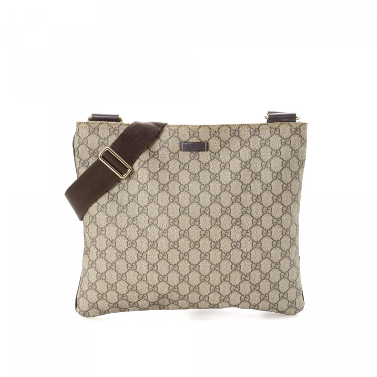 d64a803664dc Gucci GG Supreme Messenger Bag GG Supreme Coated Canvas - LXRandCo ...