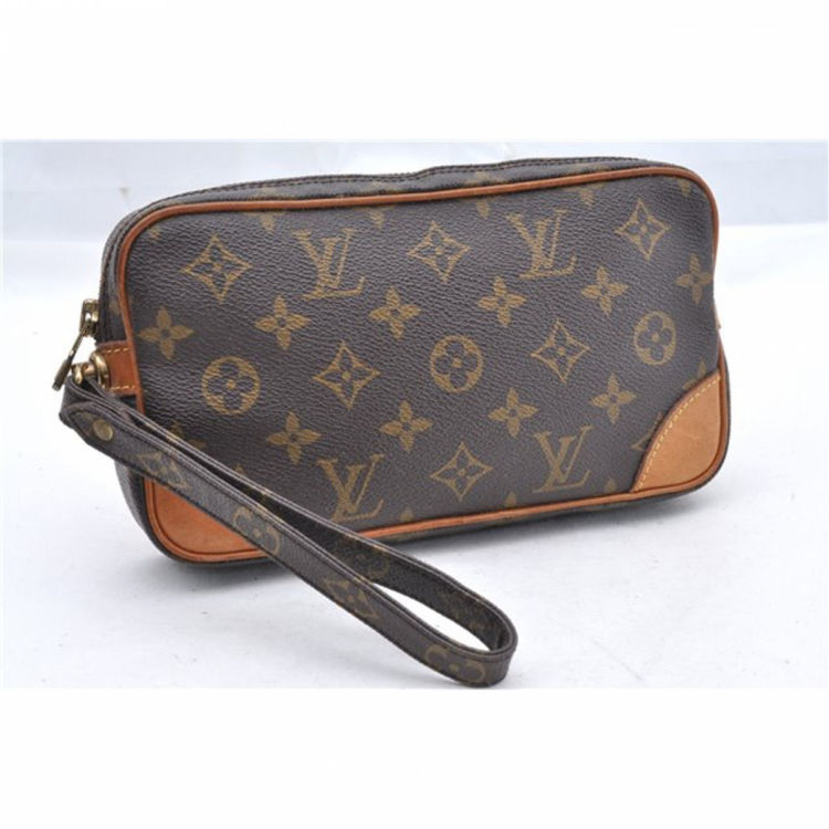 2d6ff98b6 ... Louis Vuitton Marly Dragonne vanity case & pouch. This lovely vanity  case & pouch in beautiful brown is made in monogram coated canvas. Good  condition* ...