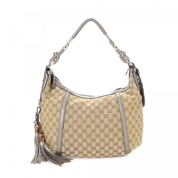 7c58c607c Gucci GG Canvas Techno Horsebit Hobo Bag GG Canvas - LXRandCo - Pre ...