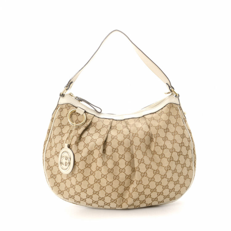 37d33844b43d Gucci GG Canvas Sukey Hobo Bag GG Canvas - LXRandCo - Pre-Owned ...