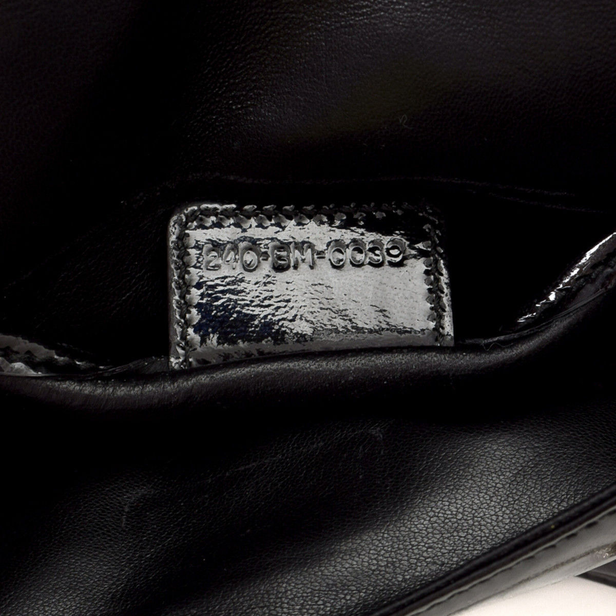 Dior Lady Dior Cannage Wallet on Chain Cannage Patent leather ... e399139cc723f