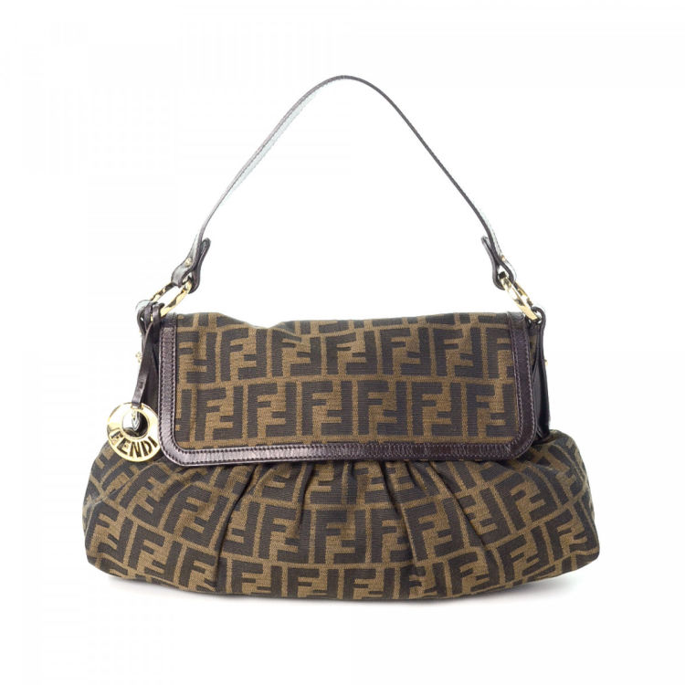bb972469f9a The authenticity of this vintage Fendi Chef shoulder bag is guaranteed by  LXRandCo. This classic bag in brown is made in zucca canvas. Good  condition* (AB)