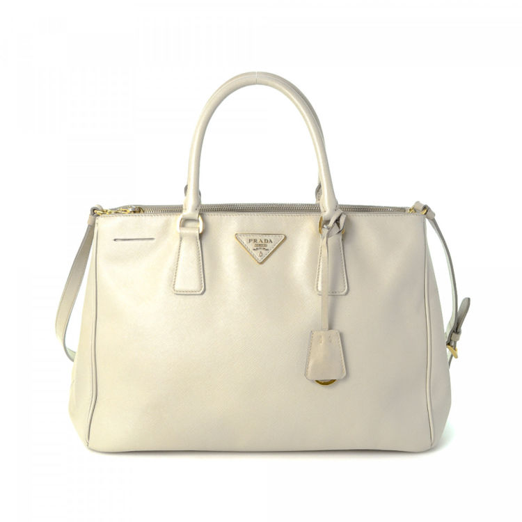 4706c82a332c Prada Saffiano Two Way Tote. Free Shipping. This product is in store at  Belk SouthPark. LXRandCo guarantees the authenticity of this vintage ...