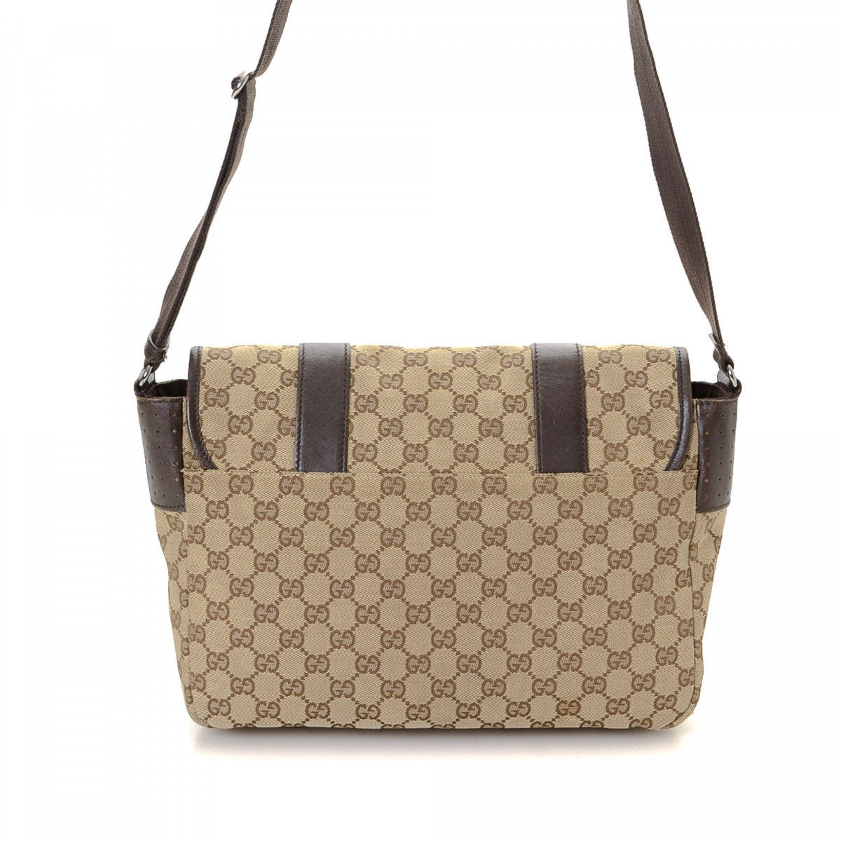 5ca56e8bf Gucci GG Canvas Crossbody Bag GG Canvas - LXRandCo - Pre-Owned ...