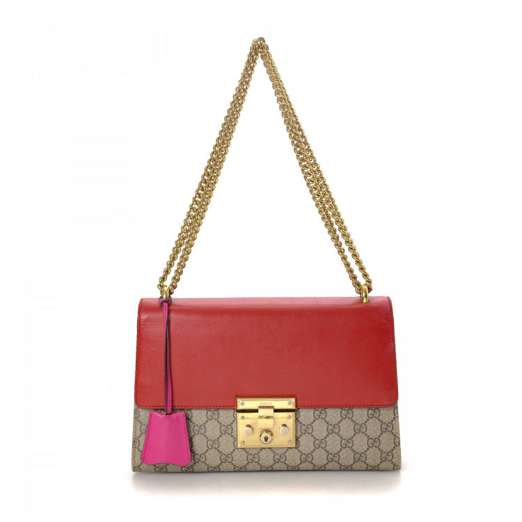 5aa0868f3ac21c Gucci GG Supreme Padlock Shoulder Bag GG Supreme Coated Canvas ...