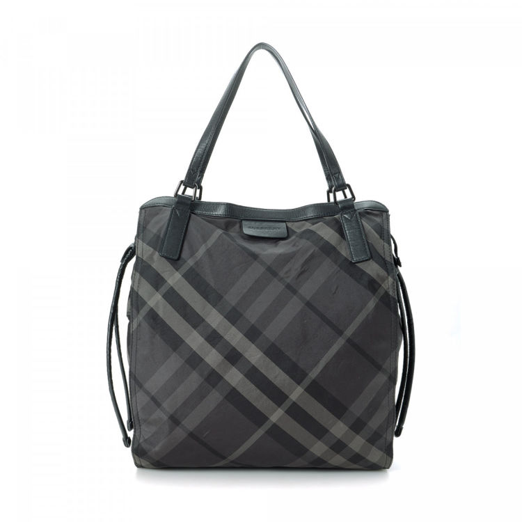 3d41b29464 Burberry Haymarket Check Tote Bag Polyester - LXRandCo - Pre-Owned ...