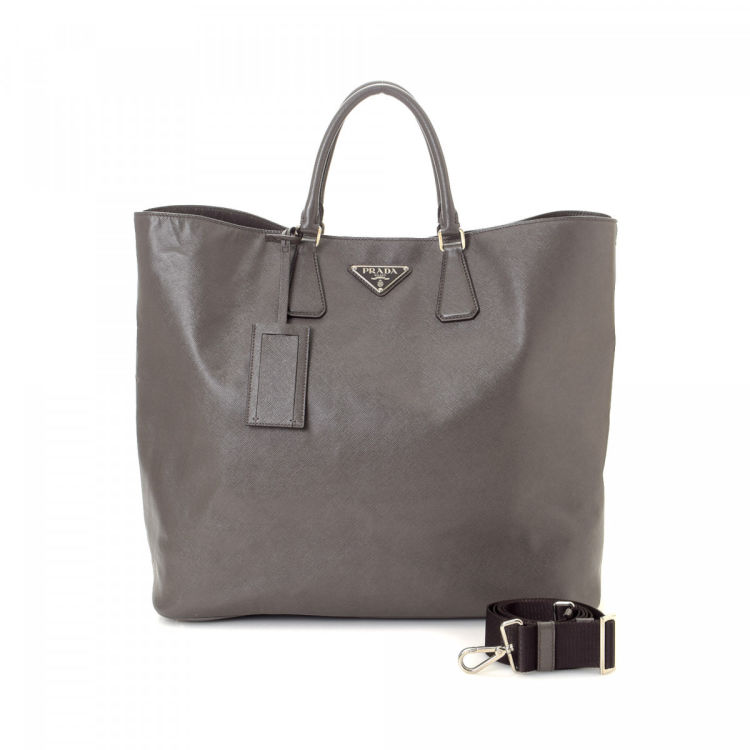 1c5834feaca3 Saffiano Two Way Tote. Free Shipping. This product is in store at Hudson's  Bay Vancouver. LXRandCo guarantees the authenticity of this vintage Prada  Two ...