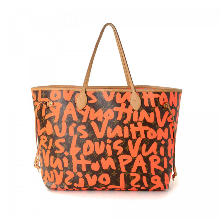 973188b5aaf9 LXRandCo guarantees this is an authentic vintage Louis Vuitton Neverfull GM  tote. Crafted in monogram graffiti coated canvas
