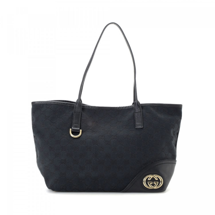 67c587a47bc1 Gucci GG Canvas New Britt Tote GG Canvas - LXRandCo - Pre-Owned ...