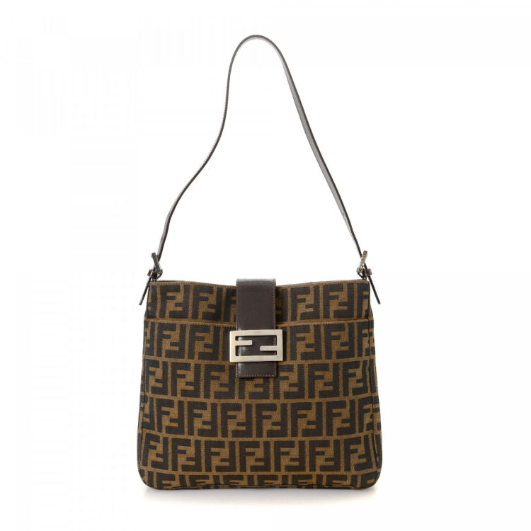 22acbf054857 LXRandCo guarantees this is an authentic vintage Fendi shoulder bag. This  elegant satchel was crafted in zucca canvas in brown. Due to the vintage  nature of ...