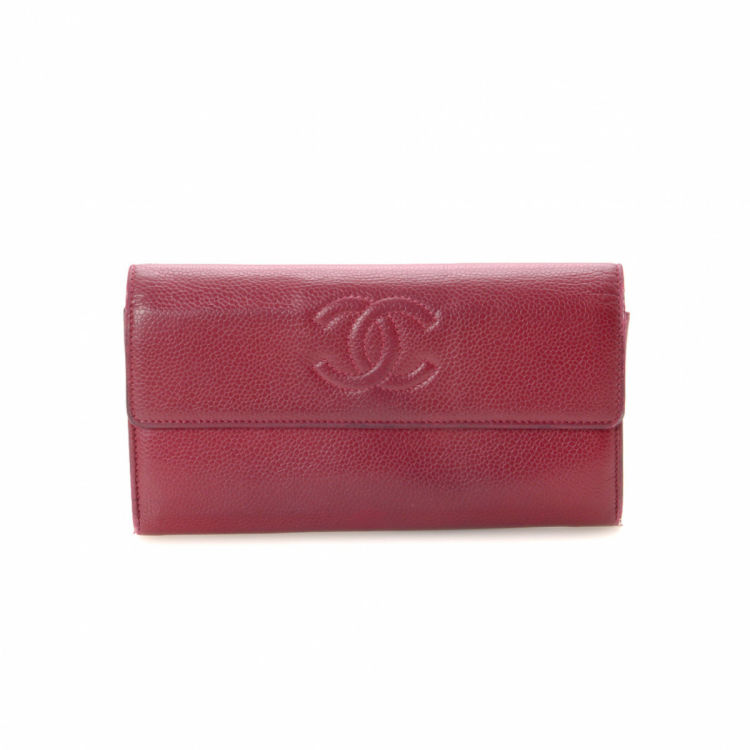 65d59a6f8dec92 ... chanel cc logo continental wallet leather lxrandco pre owned ...