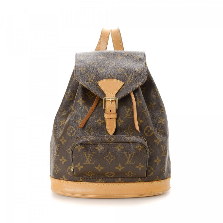 17cb5bba0c11 LXRandCo guarantees this is an authentic vintage Louis Vuitton Montsouris  MM backpack. Crafted in monogram coated canvas