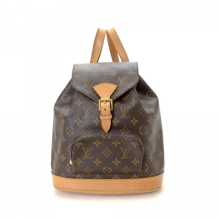a0c8c2c0591a LXRandCo guarantees this is an authentic vintage Louis Vuitton Montsouris  MM backpack. Crafted in monogram coated canvas