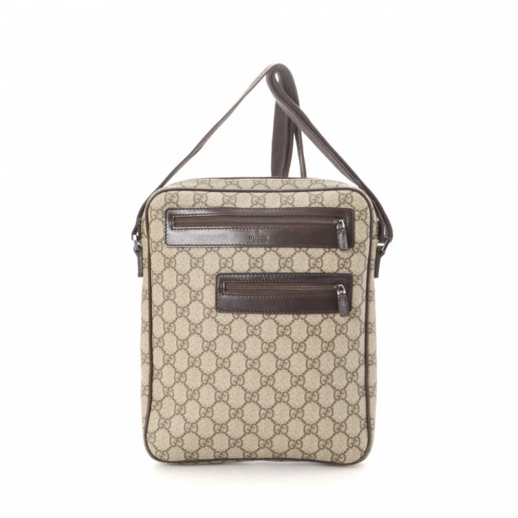 6db22961fdf4f LXRandCo guarantees this is an authentic vintage Gucci Crossbody Bag  messenger   crossbody bag. This stylish crossbody was crafted in gg supreme  coated ...