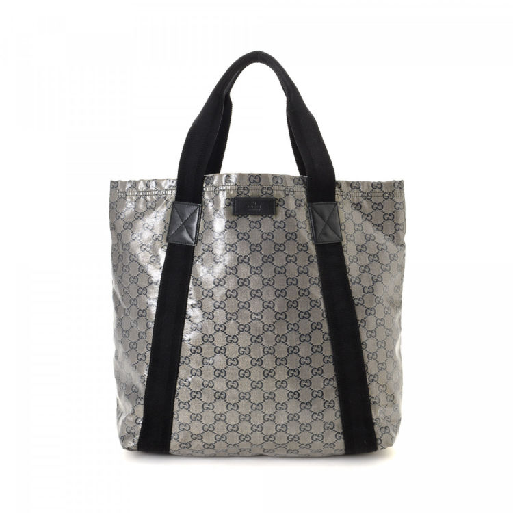 228c121c4f0c Gucci GG Crystal Tote GG Crystal Coated Canvas - LXRandCo - Pre ...