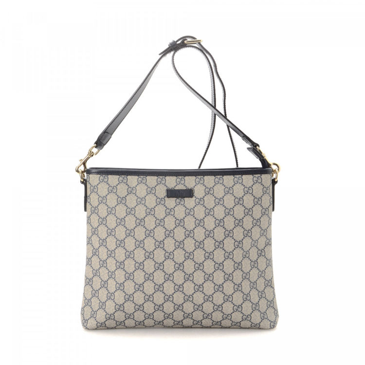 fde8ff16b6773f LXRandCo guarantees this is an authentic vintage Gucci Crossbody Bag  messenger & crossbody bag. Crafted in gg supreme coated canvas, this  everyday satchel ...