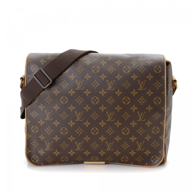 69668752d869 LXRandCo guarantees the authenticity of this vintage Louis Vuitton Abbesses  messenger   crossbody bag. Crafted in monogram coated canvas