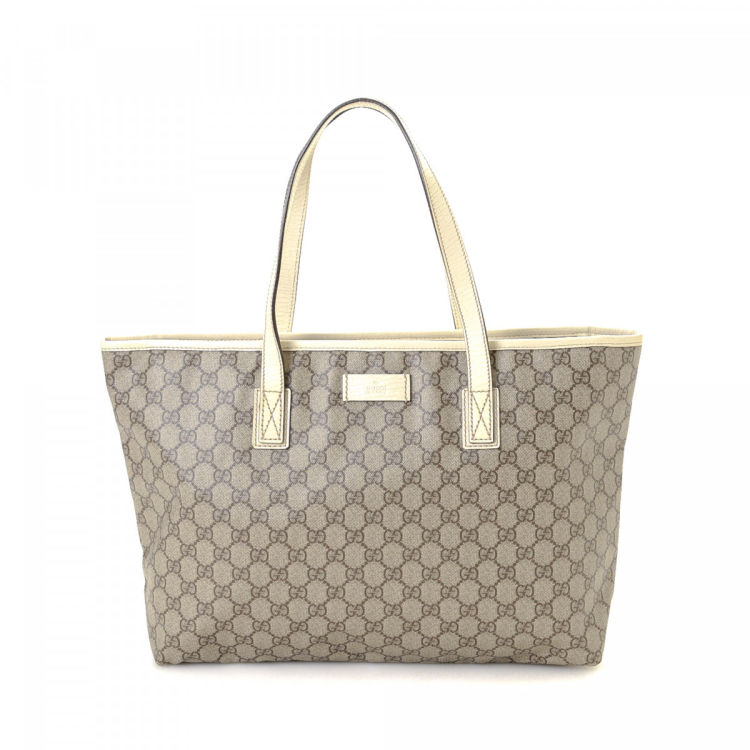 6c38d1b7a Gucci GG Canvas Tote Bag GG Coated Canvas - LXRandCo - Pre-Owned ...