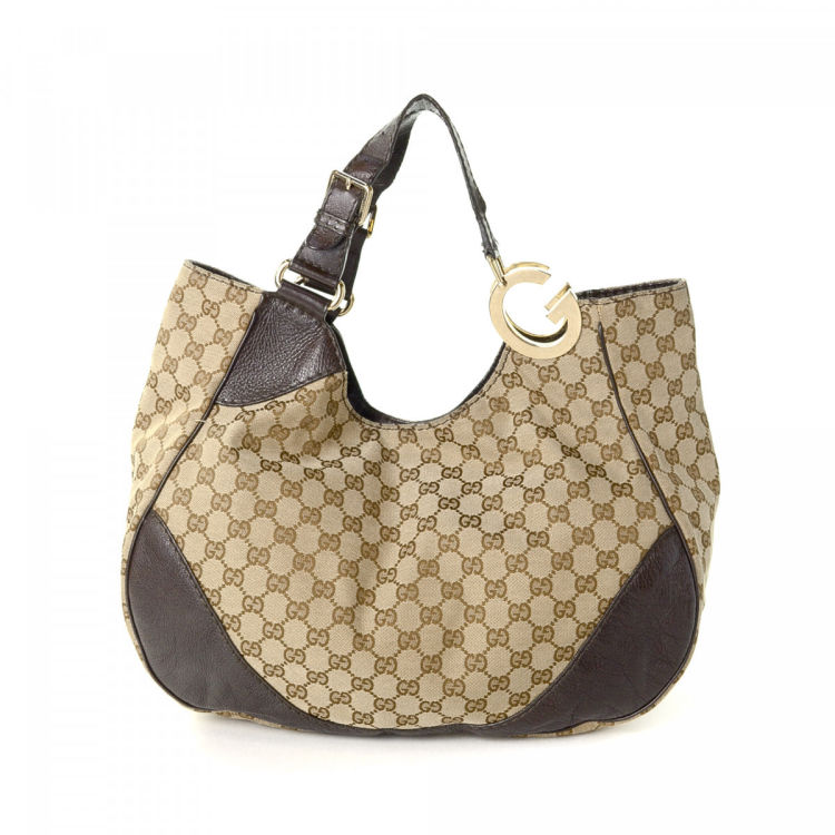 3091a9b7a868 LXRandCo guarantees this is an authentic vintage Gucci Charlotte tote.  Crafted in gg canvas, this stylish work bag comes in beige. Very good  condition* (A)