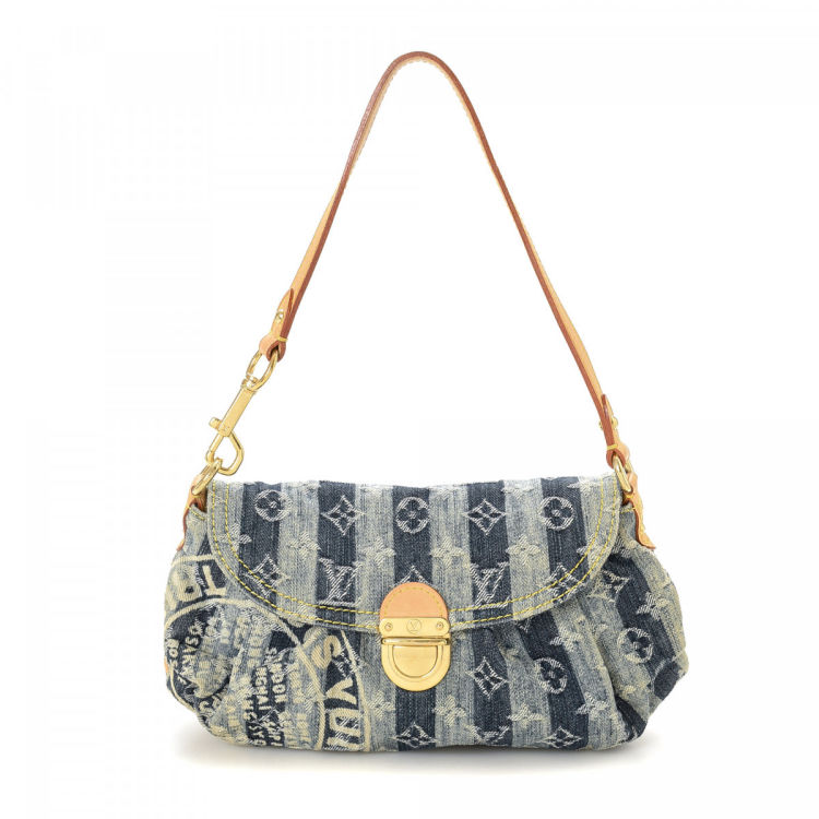 ae1059bc06f Louis Vuitton Mini Pleaty Raye Monogram Denim Denim - LXRandCo - Pre ...