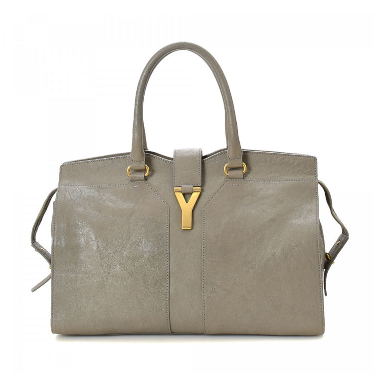 2b3d806bb0 Yves Saint Laurent Chyc Cabas Medium Leather - LXRandCo - Pre-Owned ...