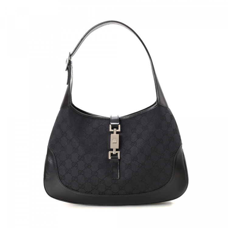 ffc7b8b5d2d Gucci GG Canvas Jackie Shoulder Bag GG Canvas - LXRandCo - Pre-Owned ...