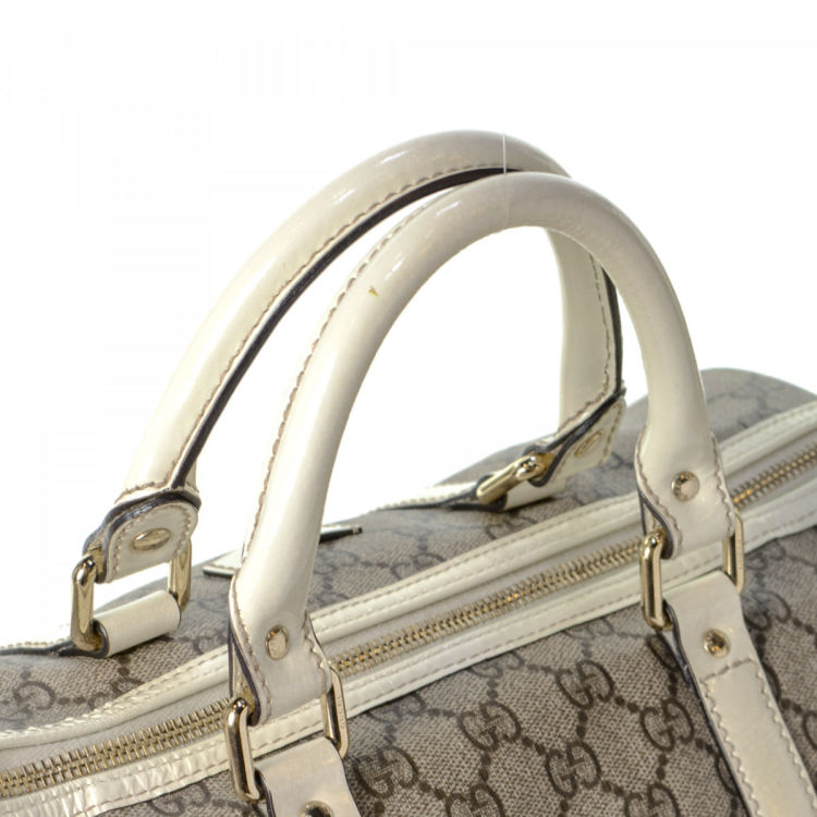 3a1062e00 Gucci GG Supreme Joy Boston Bag GG Supreme Coated Canvas - LXRandCo ...