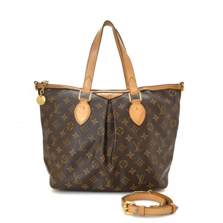 Louis Vuitton Palermo PM Monogram Brown Coated Canvas Totes