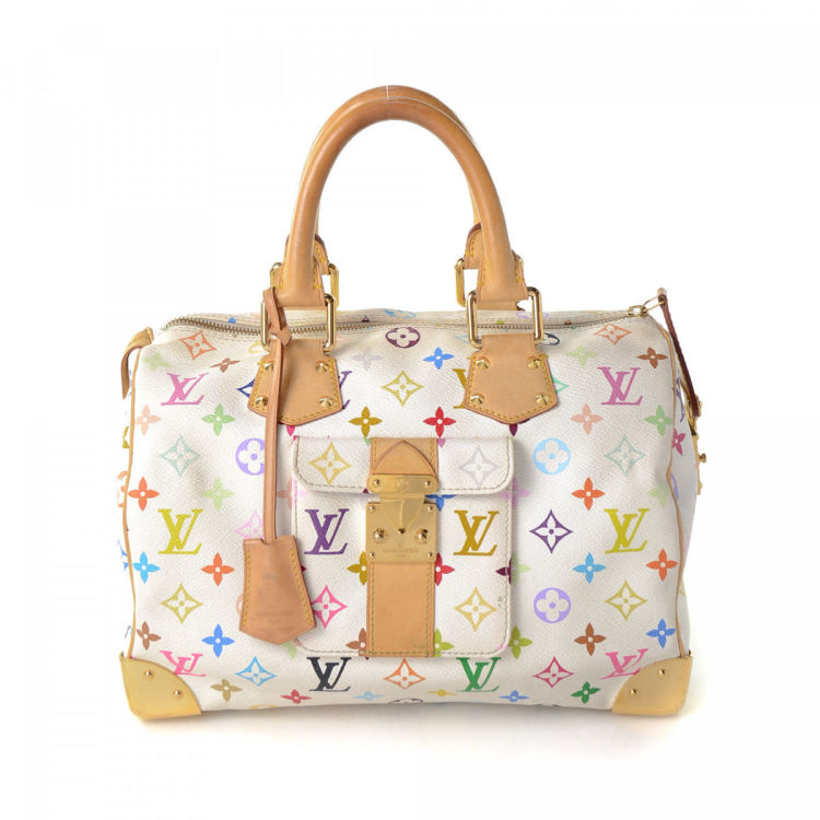Louis Vuitton Limited Edition Monogram Speedy 30 Multicolored Coated Canvas Handbag