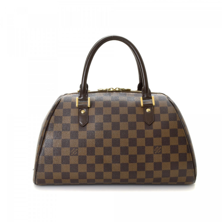 Louis Vuitton Ribera MM Damier Ebene Brown Coated Canvas Handbag