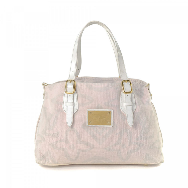 Louis Vuitton Tahitienne Cabas PM Monogram Tahitienne Baby pink Canvas Totes