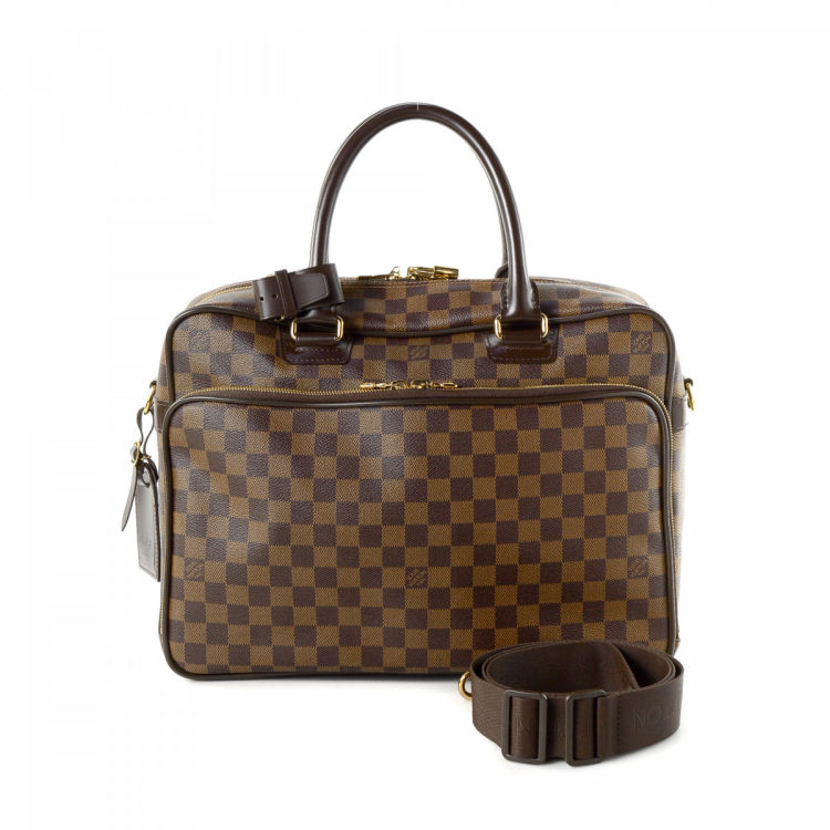 Louis Vuitton Icare Damier Ebene Brown  Coated Canvas Travel Bag