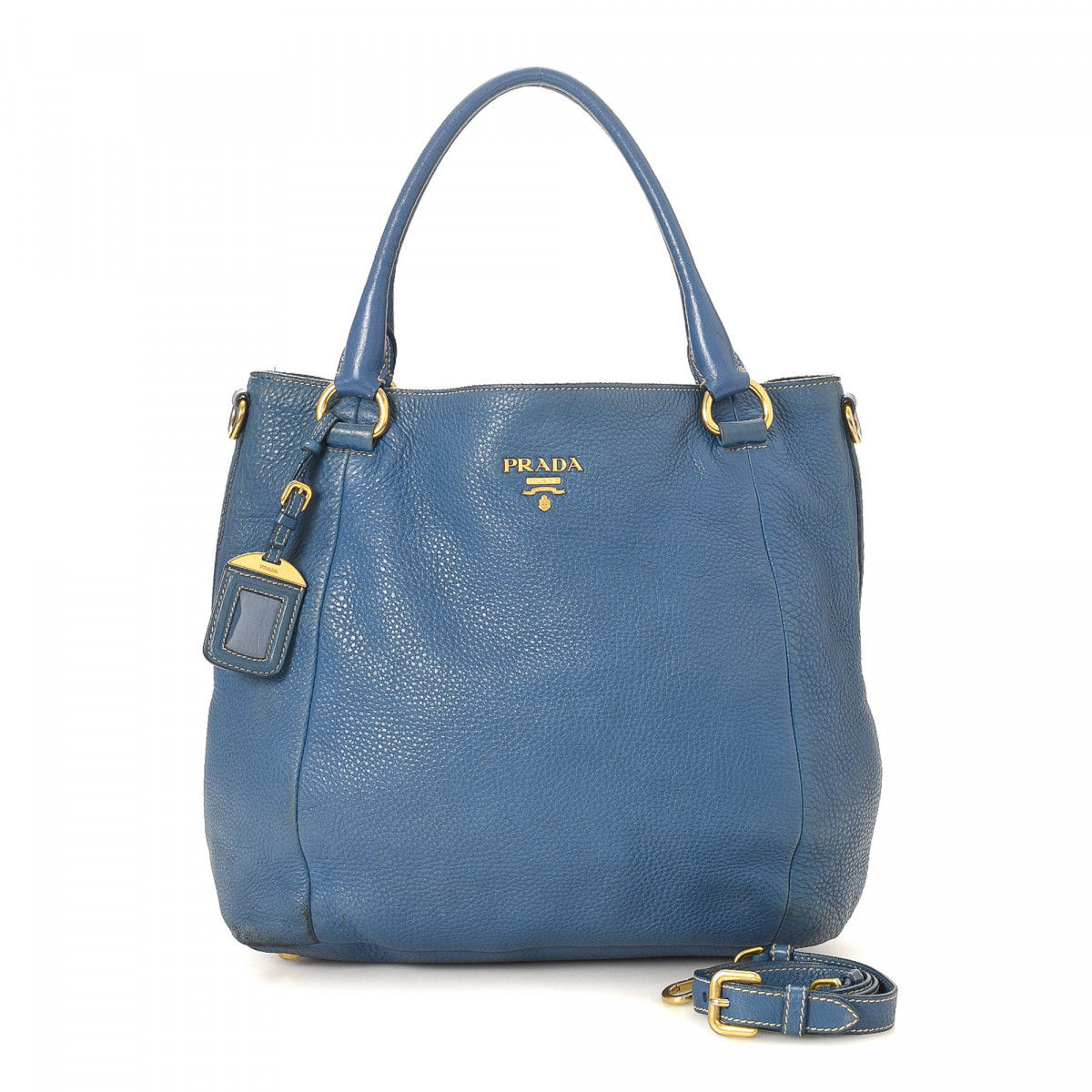 Prada Vitello Daino Two Way Tote Bag
