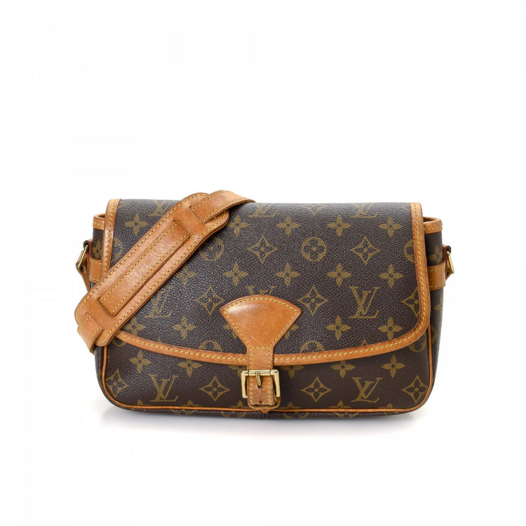 Louis Vuitton Sologne Monogram Brown Coated Canvas Messenger & Cross-body Bag